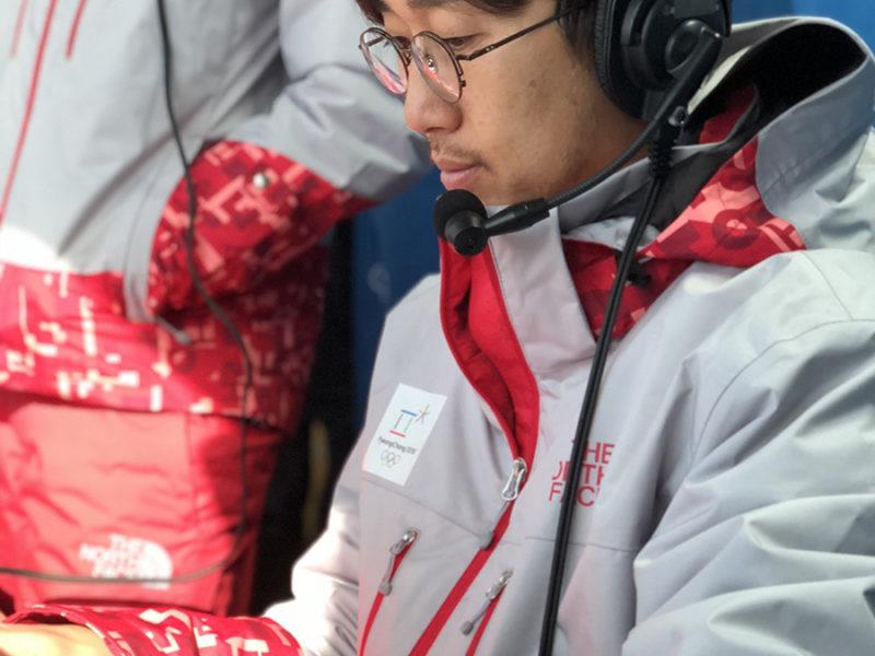 바루서프 김진수 대표, 평창동계올림픽 현장 중계 아나운서
